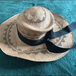 Accessories - Straw Hat with Black Ribbon!